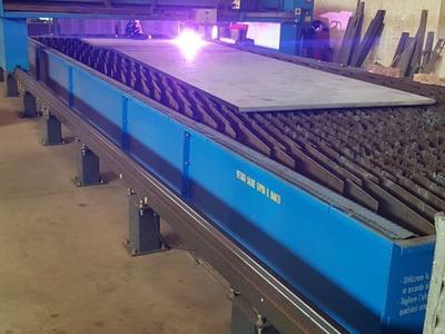 Plasmaschneiden von Blech - Taferner Stahlhandel e.U.